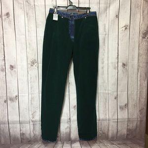 Wrangler Rugged Wear Green Fleece Lined Mom Jeans